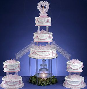 I want a bridge cake with a fountain as my wedding cake one day!