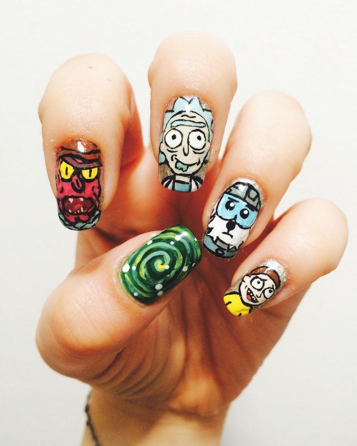 Rick & Morty Nail Art