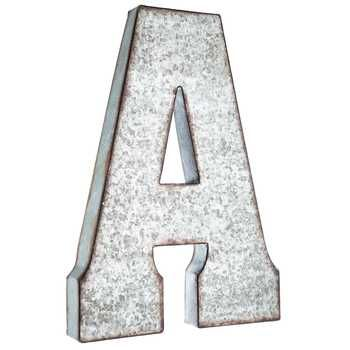 Large Galvanized Metal Letter. Hanging Wall LettersLetter Wall DecorMetal  ...