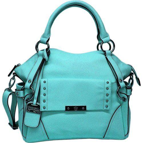 Jessica Simpson Encino Satchel Top Handle Bag,Teal,One Size - http://clutches-handbags-shoes.com/2014/04/jessica-simpson-encino-satchel-top-handle-bagtealone-size/