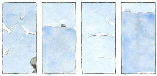 graphic novel - ein tag am meer