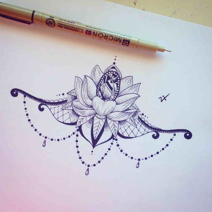 Lotus flower w a diamond and jewels
