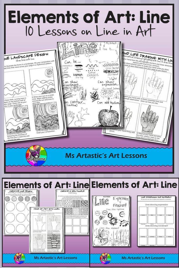 Workbooks high school art worksheets : The 25+ best Elements of art line ideas on Pinterest   7 elements ...
