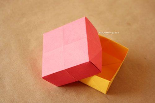 Como hacer una caja de origami basica facil lugares - Como hacer una caja ...