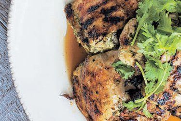 Coriander and lime grilled chicken