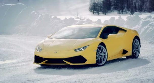 Lamborghini arrive avec des stages pour découvrir la conduite sur glace ou dans des conditions extrêmes nommés Lamborghini Winter Academy