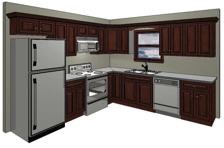10x10 kitchen layout in the standard 10 x 10 kitchen for Island kitchen designs layouts