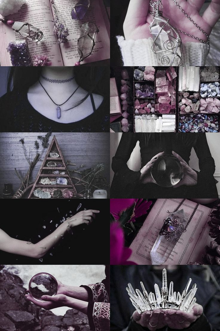 """skcgsra: """"crystal witch aesthetic (more here) """""""