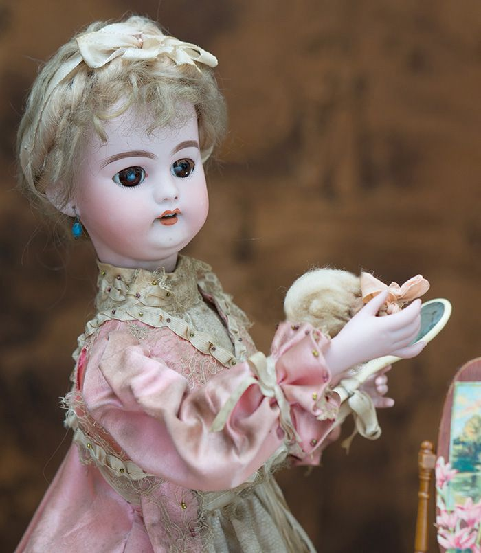 53см Французский Музыкальный автомат КОКЕТКА фирмы Ламберт, 1895 г. - на сайте антикварных кукол.