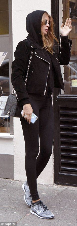 Millie Mackintosh ditches the glam as she dresses down in workout wear