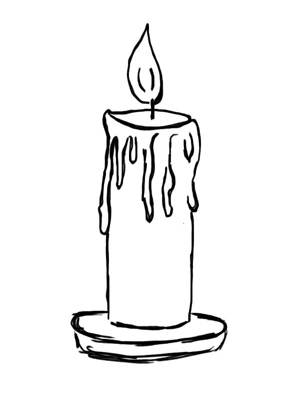 Candle Light Candle Coloring Pages