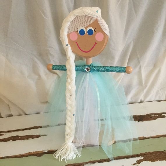 Princess Hair Accessories Holder Stand inspired by Elsa, Elsa Stand, girl's hair organization stand