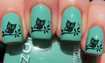 Startled owl I would do just the ring finger like this and the rest black