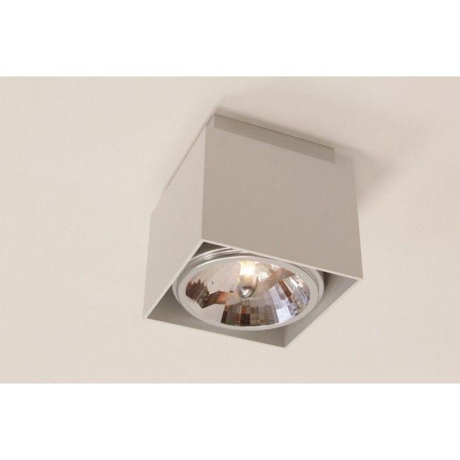 Plafondlamp / Opbouw spot 76310 Wit   Vierkant