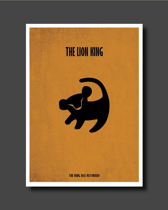 Les 25 meilleures id es de la cat gorie lion king drawings for Art minimaliste citation
