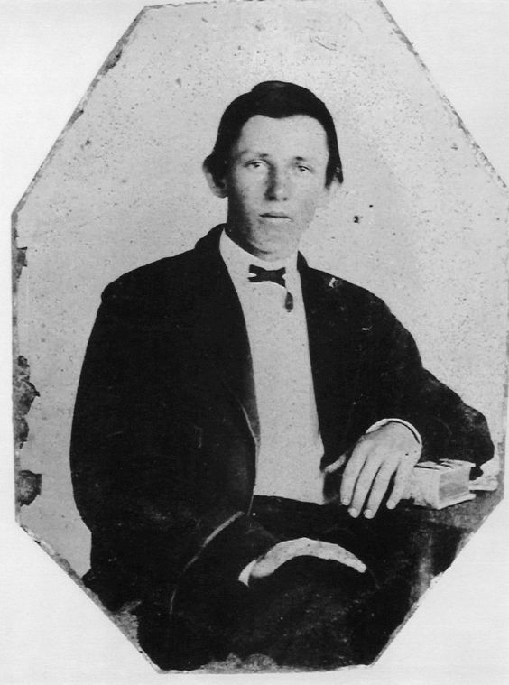 This un-authenticated picture is thought to be William Bonney (Billy the Kid) at 18, three years before his death.