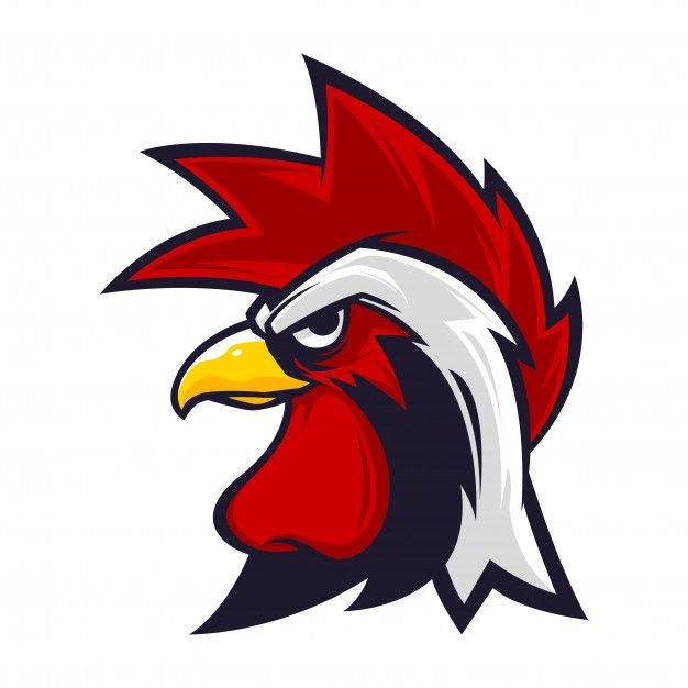 Chicken Head Mascot Mascot Vector Cartoon