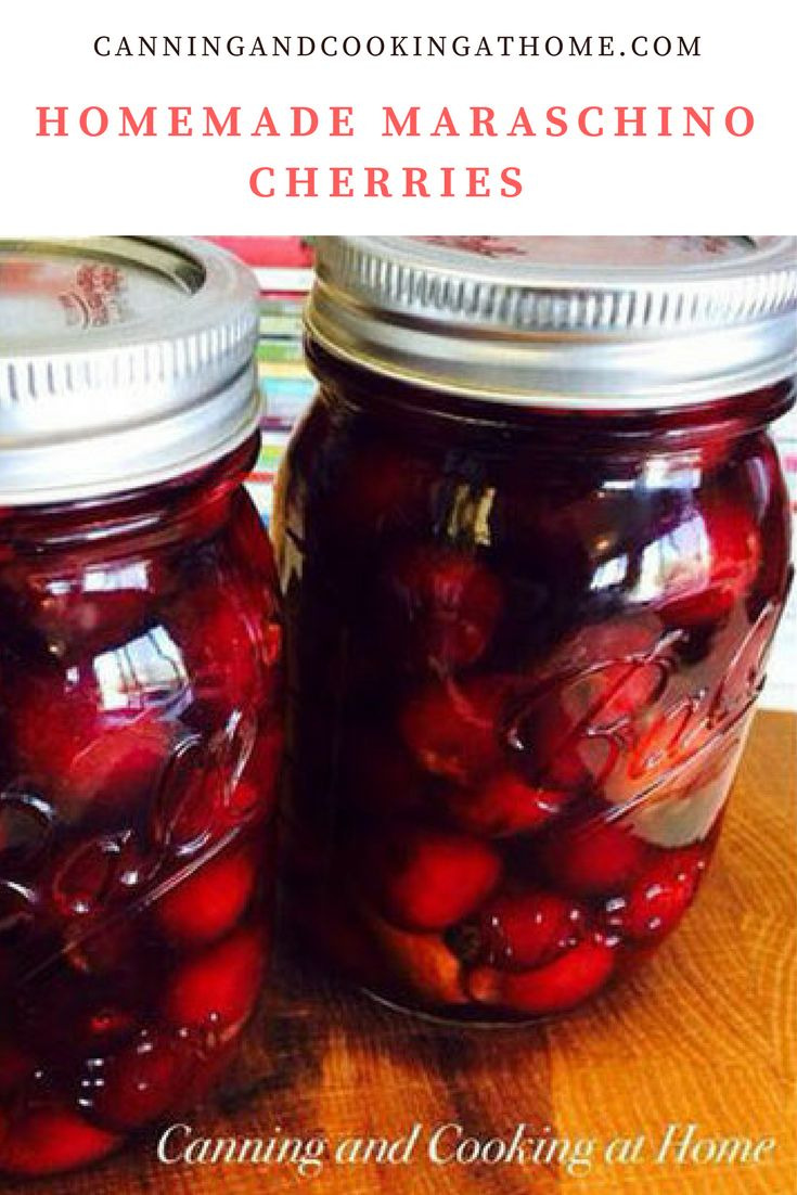 Homemade Maraschino Cherries