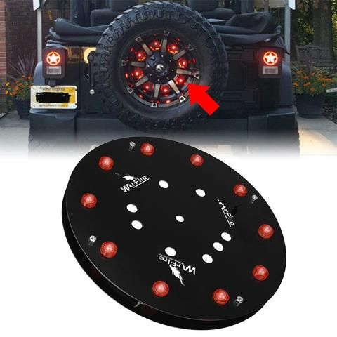 "12.5"" Spare Tire Wheel LED Brake light For 1986-2016 Jeep YJ TJ JK Wrangler"