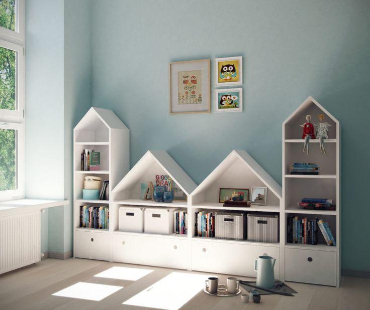 Girls bookshelves idea