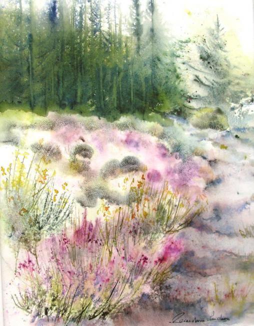 Senteurs de genets - Painting ©2008 par Reine-Marie PiNCHON -  Peinture, Huile