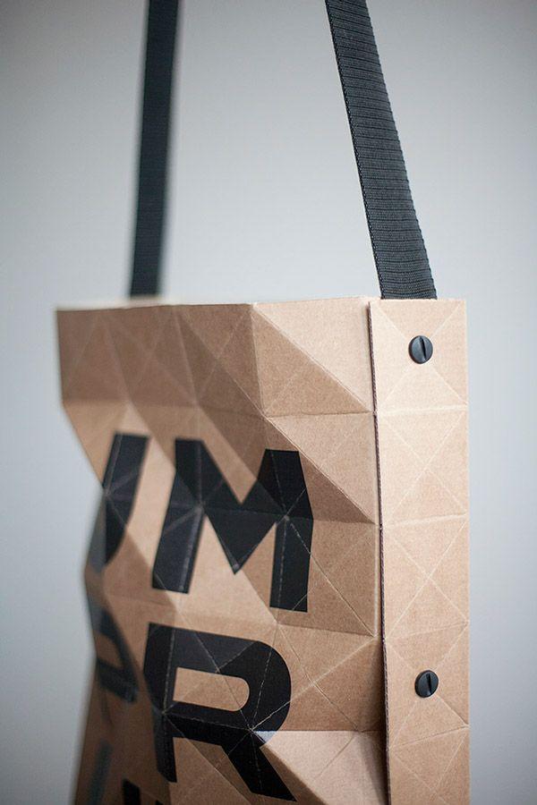 Faceted paper bag on Behance