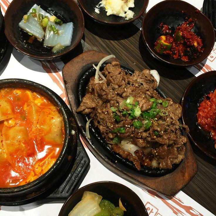 Bulgogi & dumpling tofu soup combo! | Food, K food, Home food