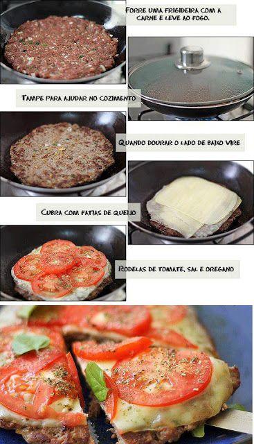 """AQUI GLÚTEN NÃO ENTRA!!! (""""keep calm and stop mimimi""""): Pizza de carne moída"""