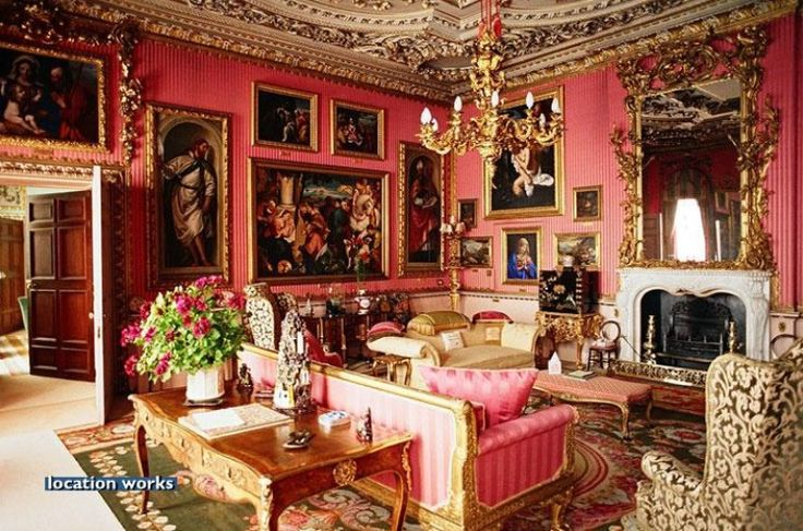 Red Drawing Room Burghley House Lincolnshire England