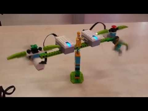 Remote control Spinning Lego Planes - Lego Wedo 2.0 Education Projects - YouTube