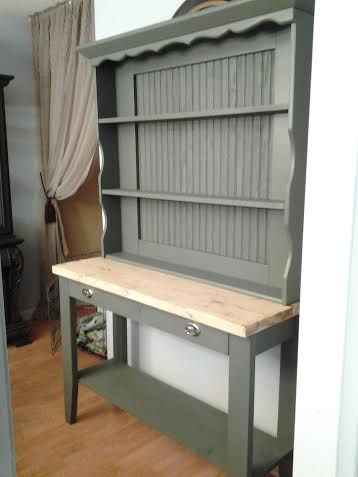 Hubby Built This Rustic Display Cabinet Top Is A