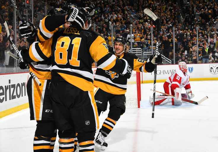 December 3, 2016 vs. Detroit. Phil Kessel scored twice and Sidney Crosby finished with three points for the second consecutive game, as the Penguins used four third-period goals to propel them to victory. Final Score, 5-3 Penguins.