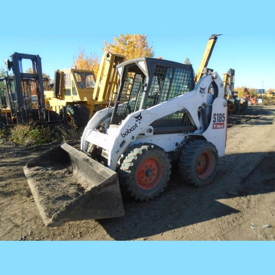 Bobcat S185 Skid Steer.  Year: 2006. Hours: 8749. Engine: 2.0L Kubota. Comes with:  Quick attach clean-up bucket.         Please contact us for more information.