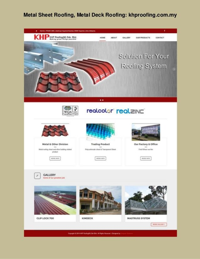 Visit: Http://www.khproofing.com.my / Steel Roof