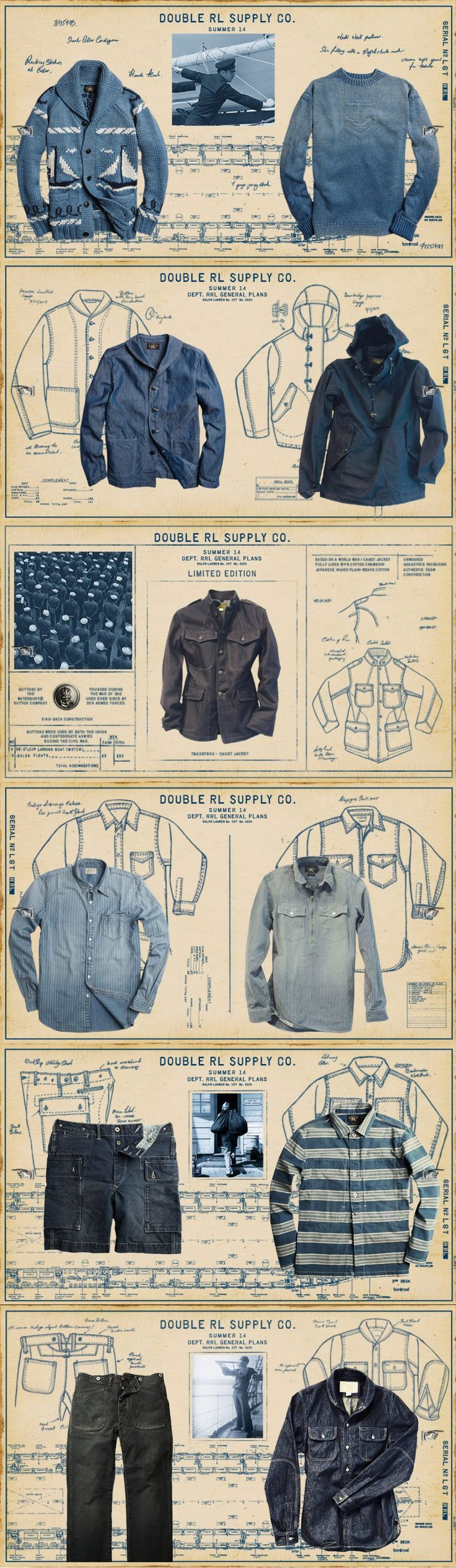 RRL Double RL & Co. Navy inspired Menswear