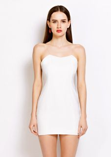 White off the should sheath silhouette mini summer dress