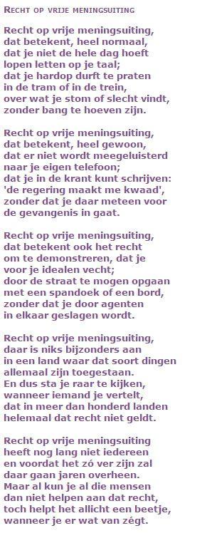 Jan Boerstoel - Recht op vrije meningsuiting