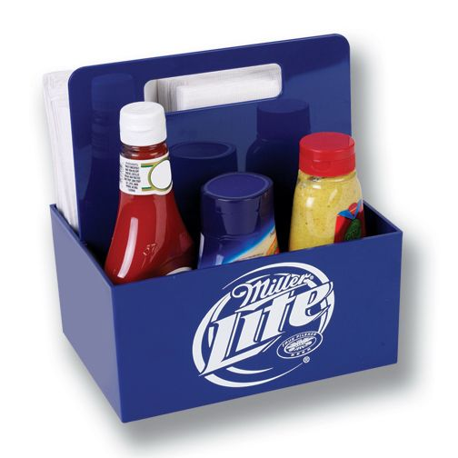 caddy condiment u0026 napkin caddy with one color imprint on front u0026 - Condiment Caddy