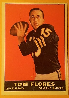 ★ Tom Flores ★ 1961 Topps #186 Oakland Raiders
