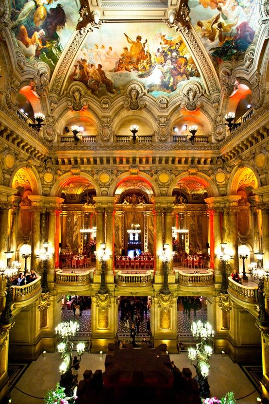 Paris opera...one of the most beautiful places I have ever stepped foot in.