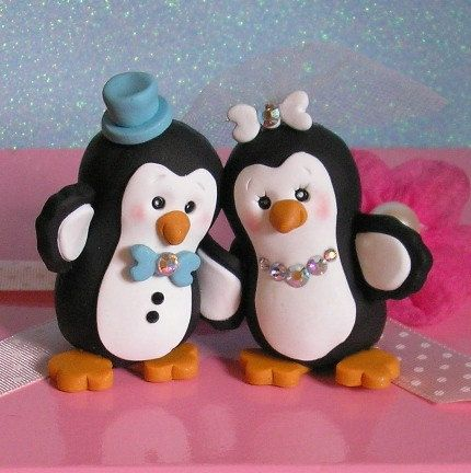 Another penguin cake toppers... Cute and inexpensive. Don't really want to have to pay a small fortune for one!