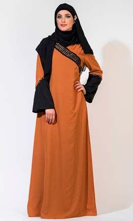 Bell Sleeved Abaya Dress
