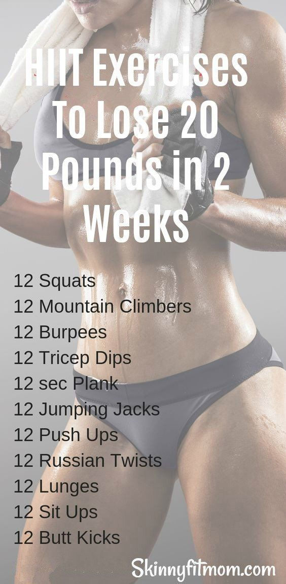 If your goal is fast weight loss, you will lose 20 pounds in 2 weeks and stay fit