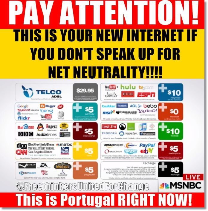 This is your internet if you don't speak up for net neutrality!