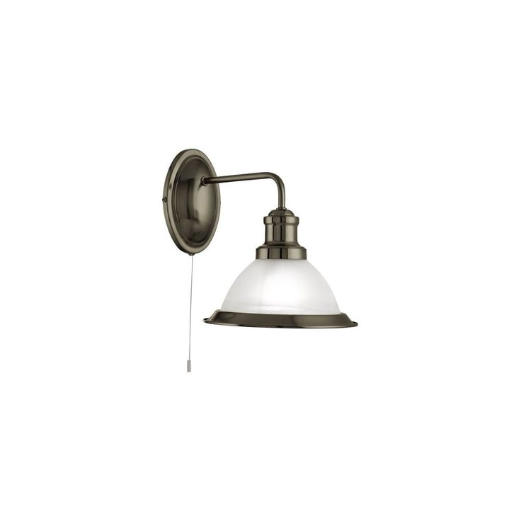 1481AB Bistro 1 Light Switched Wall Light Antique Brass