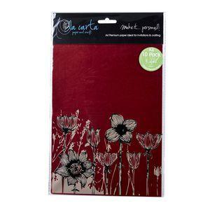 La Carta Metallic A4 Paper Rubine