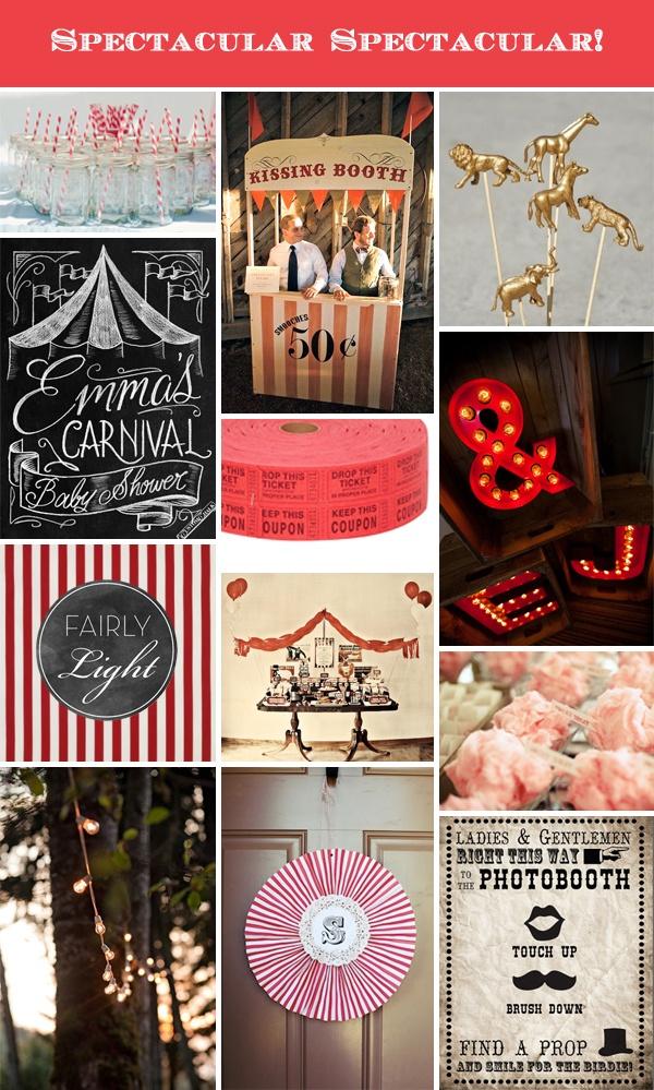 Circus theme party, wedding, event | Spectacular Spectacular | Carnival via Fairly Light