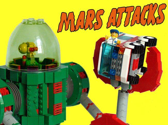 creations personnelles en lego robot geant mars attacks custom lego mars attacks giant robot. Black Bedroom Furniture Sets. Home Design Ideas