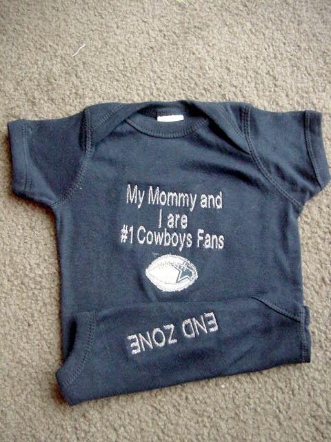 Dallas Cowboys Football Baby Infant Newborn by Embroideryworld