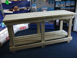 new-hand-made-6FT-solid-heavy-duty-wooden-work-bench